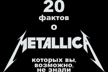 20 фактов о Metallica