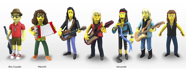 Aerosmith and Elvis Costello as Simpsons. Aerosmith и Элвис Костелло станут частью Симпсонов