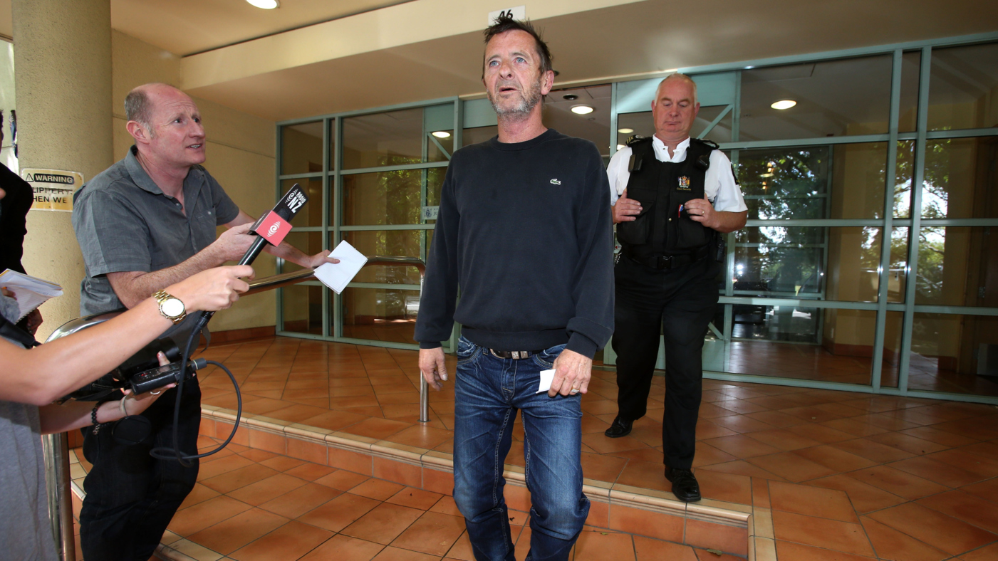 AC/DC Drummer Phil Rudd Handcuffed And Back In Court