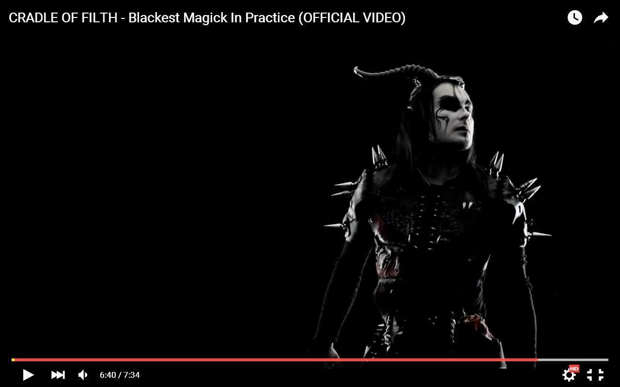 Cradle Of Filth выпустили клип на песню Blackest Magick in Practice