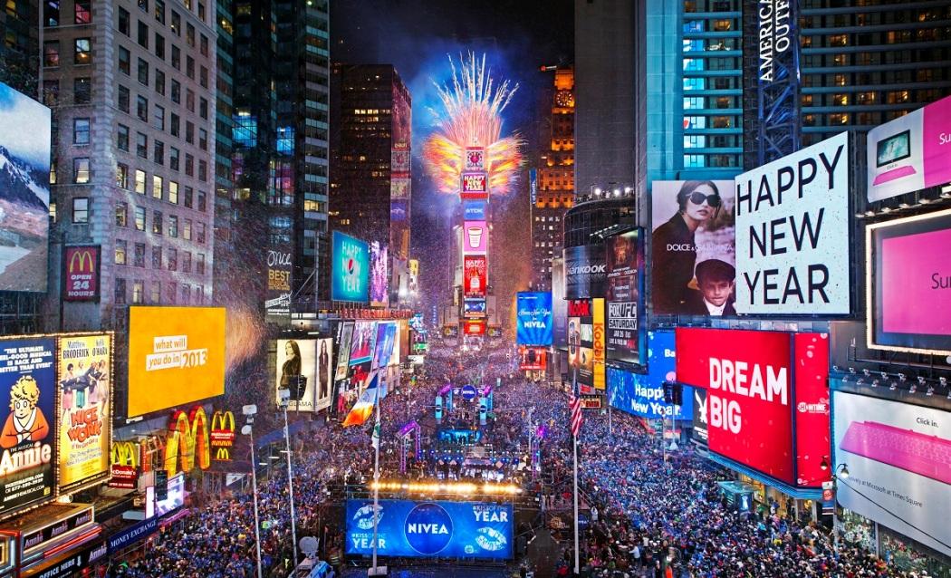 Новый год Тайм Сквер рок-музыканты