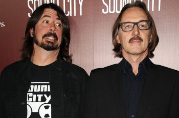 """HOLLYWOOD, CA - JANUARY 31:  Dave Grohl and Butch Vig attend the premiere of """"Sound City"""" at ArcLight Cinemas Cinerama Dome on January 31, 2013 in Hollywood, California.  (Photo by Jason LaVeris/FilmMagic)"""