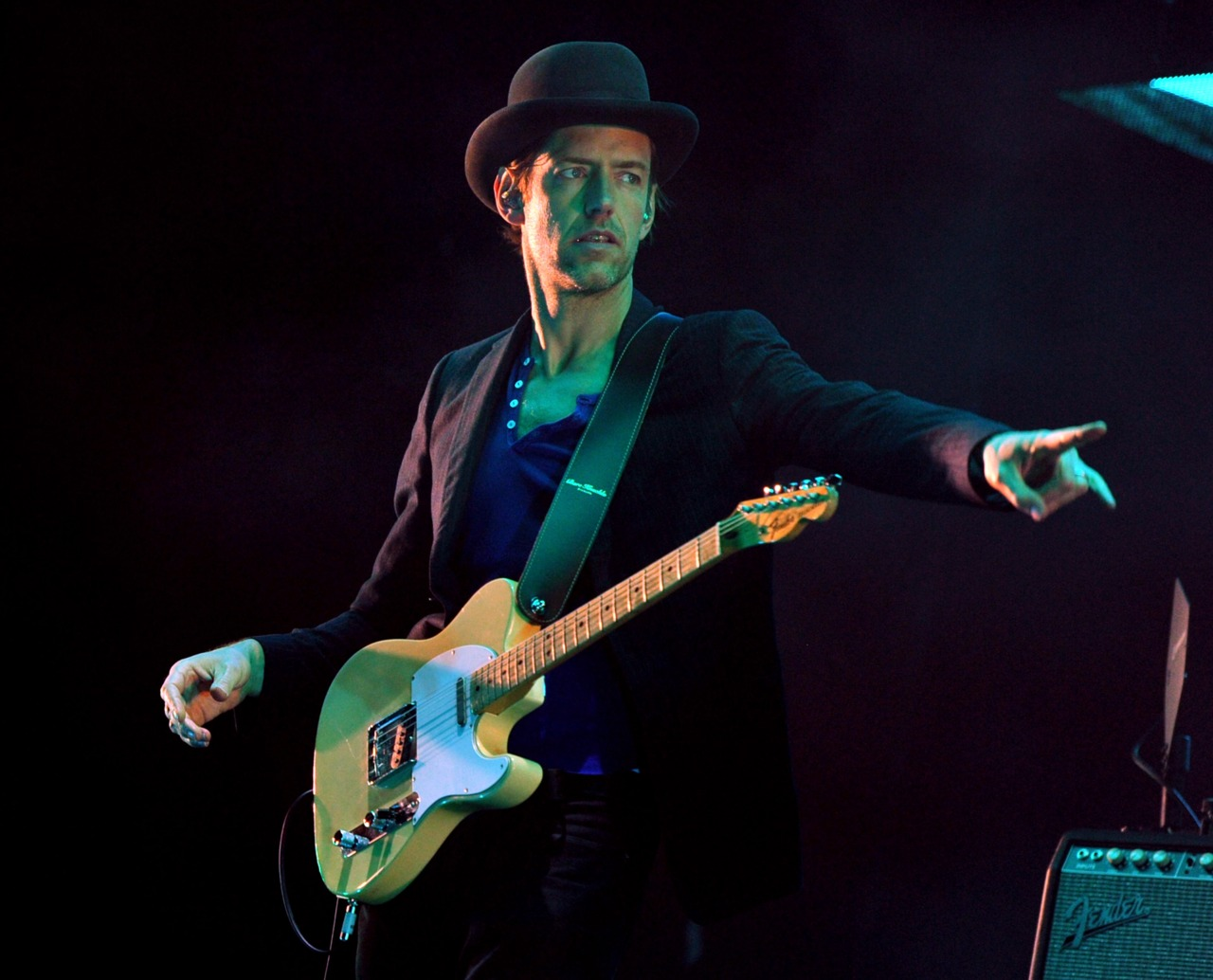 INDIO, CA - APRIL 14:  Musician Ed O'Brien of Radiohead performs onstage during day 2 of the 2012 Coachella Valley Music & Arts Festival at the Empire Polo Field on April 14, 2012 in Indio, California.  (Photo by Kevin Winter/Getty Images for Coachella)