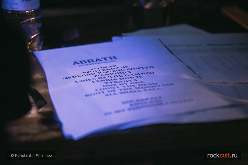 Фотоотчет   Abbath в Питере   Зал Ожидания   30.04.2016