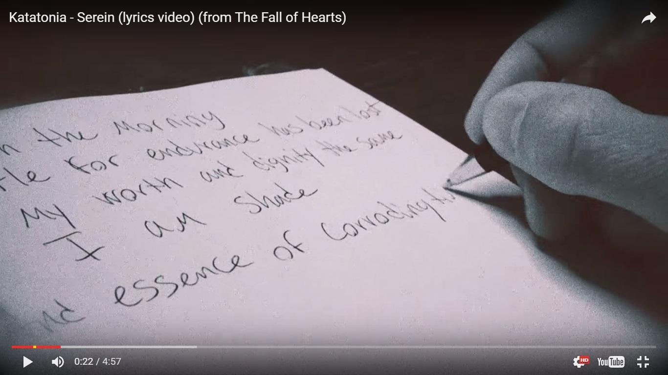 Katatonia выпустили лирическое видео на песню Serein