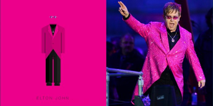 Свитер и глитер: наряды рок-звезд в картинках Элтон Джон