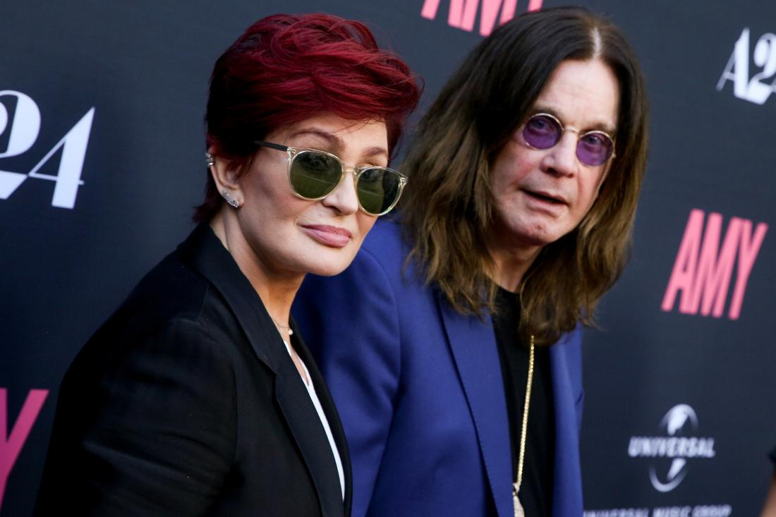 """Sharon Osbourne, left, and Ozzy Osbourne arrive at the LA Premiere of """"Amy"""" at The Theater at Arclight Cinemas Hollywood on Thursday, June 25, 2015, in Los Angeles. (Photo by Rich Fury/Invision/AP)"""