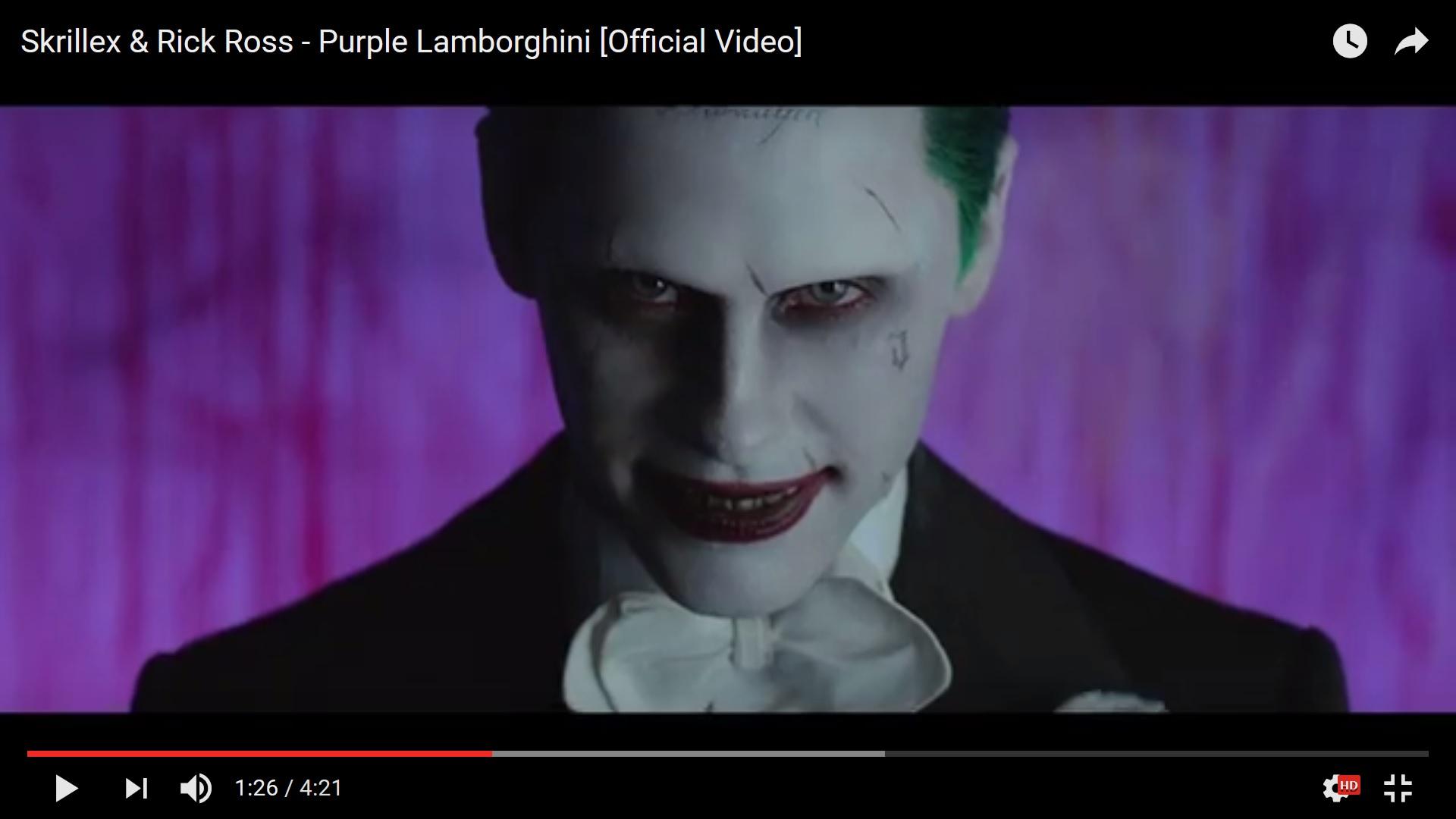 Джаред Лето в образе Джокера снялся в клипе к саундтреку фильма Отряд Cамоубийц