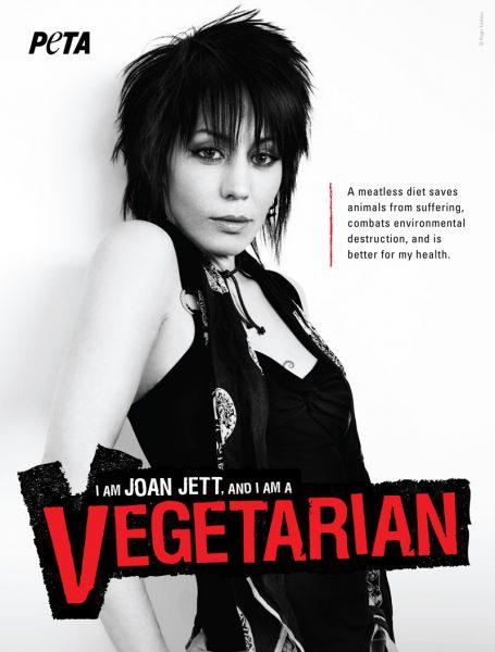 музыканты - защитники животных Джоан Джет PETA