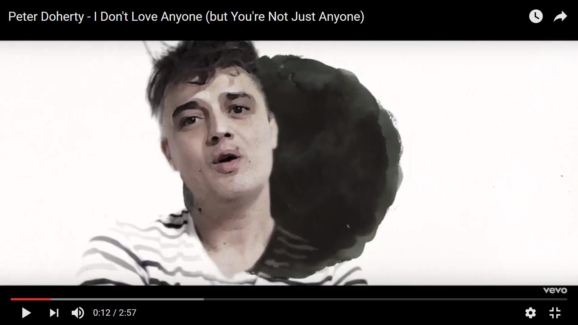 Пит Доэрти выпустил клип на песню I Don't Love Anyone (But You're Not Just Anyone)