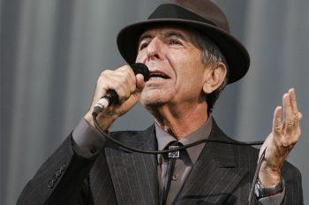 Canadian singer-songwriter Leonard Cohen performs at the Glastonbury Festival 2008 in Somerset, southwest England on June 29, 2008. Photo courtesy of REUTERS/Luke MacGregor