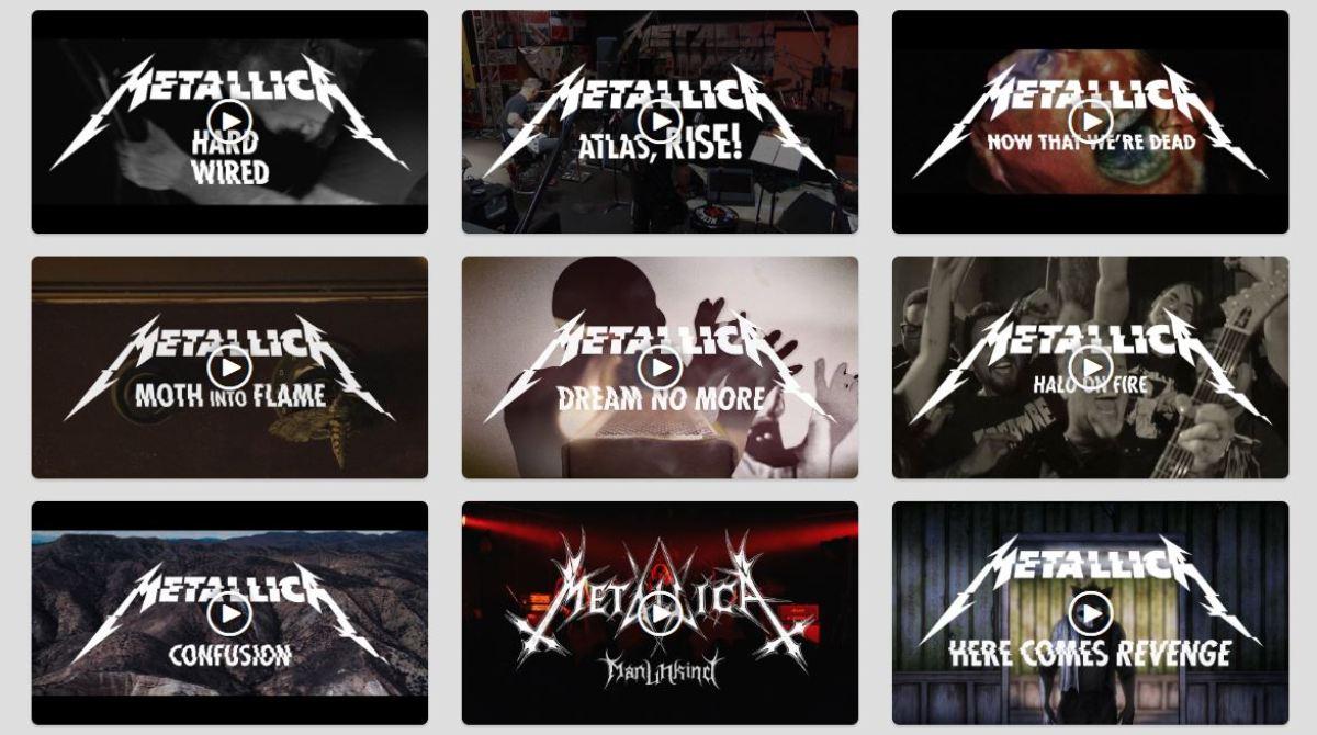 Metallica выпустили клипы на все песни с альбома Hardwired…To Self-Destruct