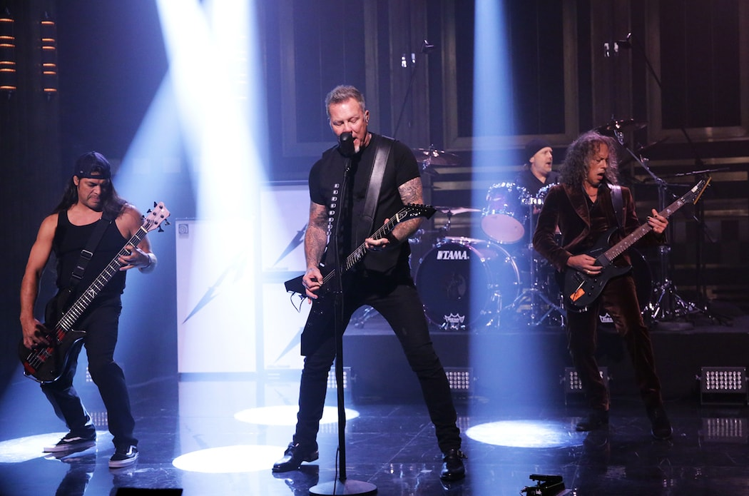 Metallica выступили на BBC Radio1